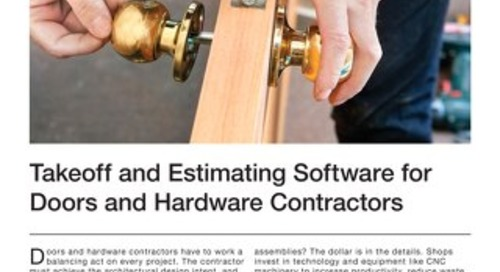 Estimating for Doors and Hardware Contractors