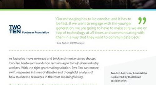 Two Ten Footwear Foundation Customer Story
