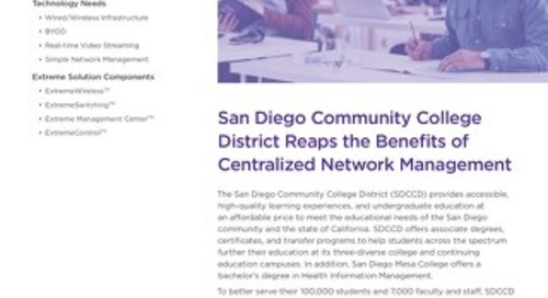 San Diego Community College District Reaps the Benefits of Centralized Network Management