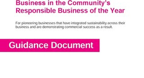 Responsible Business of the Year guidance document and scoring guide