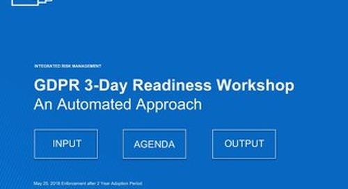 GDPR Workshop