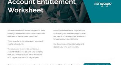 Account Entitlement Worksheet |  Engagio ABM