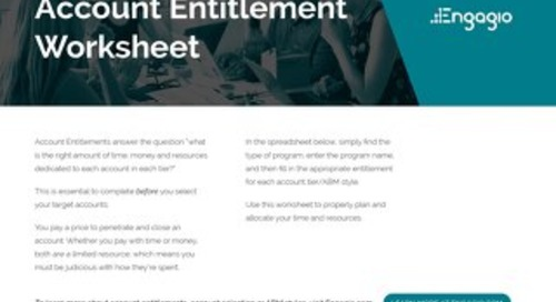 Account Entitlement Worksheet    Engagio ABM