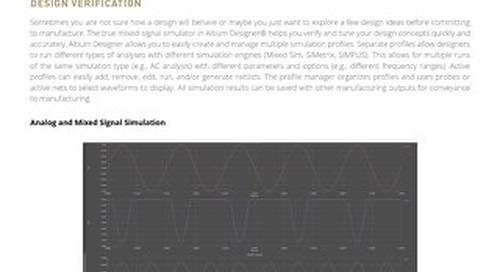 Design Verification Datasheet