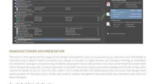 Manufacturing Outputs Datasheet