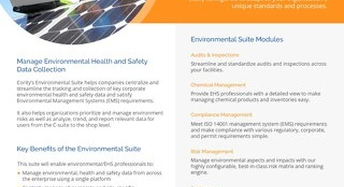 One Pager - Environmental Suite