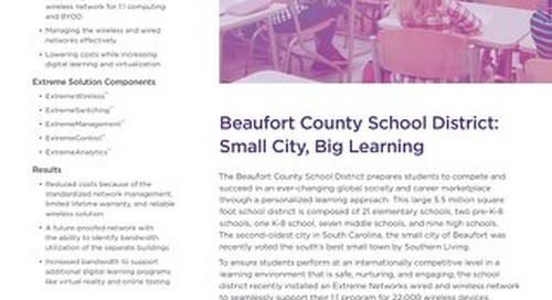 Beaufort County School District: Small City, Big Learning