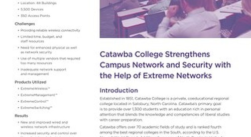 Catawba College Strengthens Campus Network and Security with the Help of Extreme Networks