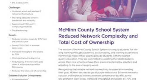 McMinn County School System Reduced Network Complexity and Total Cost of Ownership