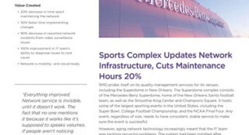 Sports Complex Updates Network Infrastructure, Cuts Maintenance Hours 20%