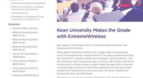 Kean University Makes the Grade with ExtremeWireless