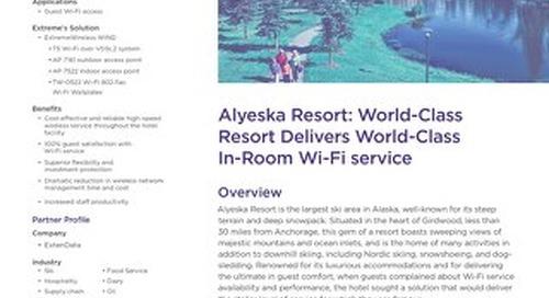 Alyeska Resort: World-Class Resort Delivers World-Class In-Room Wi-Fi Service