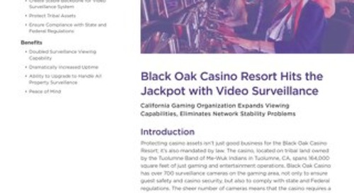 Black Oak Casino Resort Hits the Jackpot with Video Surveillance