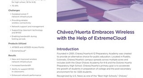 Chávez/Huerta Embraces Wireless with the Help of ExtremeCloud
