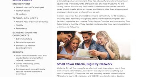 City of Troy Reliably Connects Employees, Citizens, Buildings, Devices, and Cameras