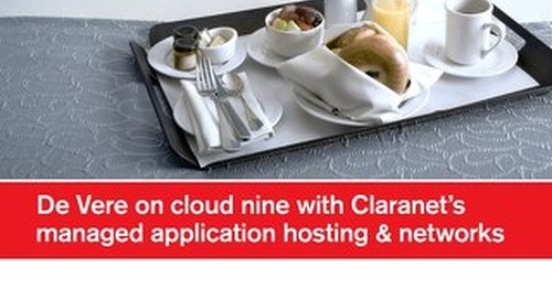 De Vere on cloud nine with Claranet's managed application hosting and networks