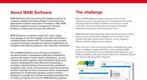 Claranet puts MAM Software in the driving seat