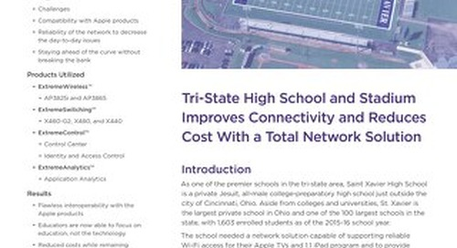 Tri-State High School and Stadium Improves Connectivity and Reduces Cost with a Total Network Solution