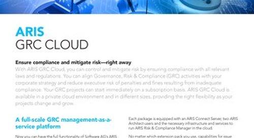 Facts about ARIS GRC Cloud
