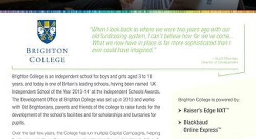 Brighton College | Raiser's Edge NXT