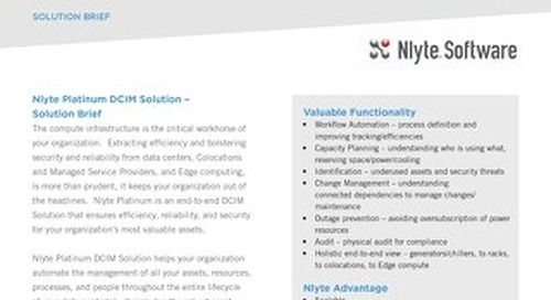 Nlyte Platinum Solution Brief