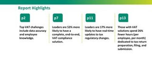VAT Multinational Organisations - An Aberdeen Study