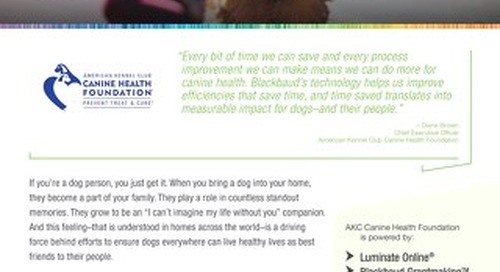 American Kennel Club Canine Health Foundation - Customer Story