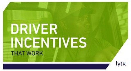 Driver Incentives That Work