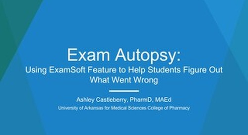 AOT Singapore Exam Autopsy Using ExamSoft Feature to Help Students Figure Out What Went Wrong