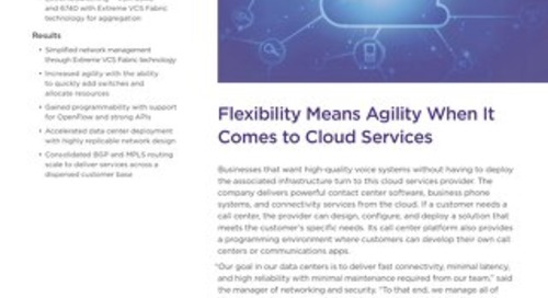 Flexibility Means Agility When It Comes to Cloud Services
