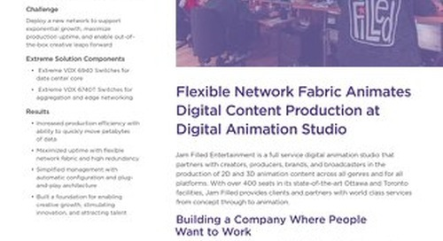 Flexible Network Fabric Animates Digital Content Production at Digital Animation Studio