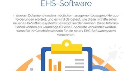 Aufbau eines Geschäftsszenarios für EHS-Software
