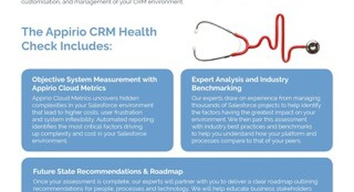 Appirio CRM Health Check