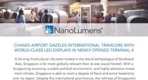 Changi Airport Dazzles With LED Displays