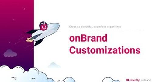 onBrand Customizations Showcase