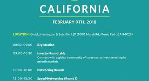 EIN California 2018 - Investor Agenda