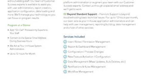 ProcessUnity Premium Support -- 171017