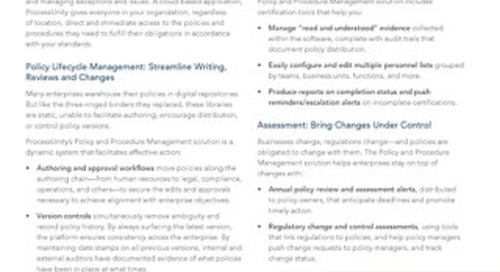 Datasheet: Policy & Procedure Management