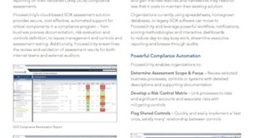 Datasheet: Sarbanes-Oxley Compliance