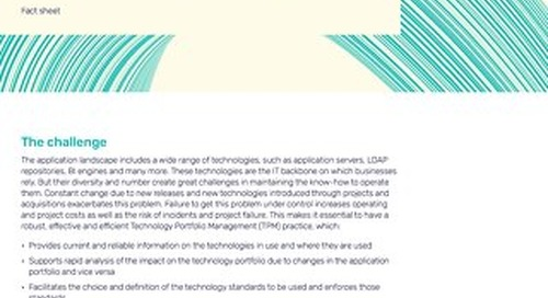 Alfabet for Technology Portfolio Management