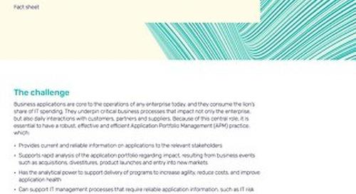 Alfabet for Application Portfolio Management