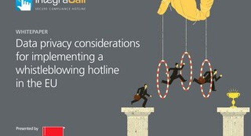 Whitepaper: Data privacy considerations for implementing a whistleblowing hotline in the EU