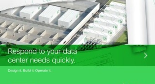 Keep pace with prefabricated data center solutions