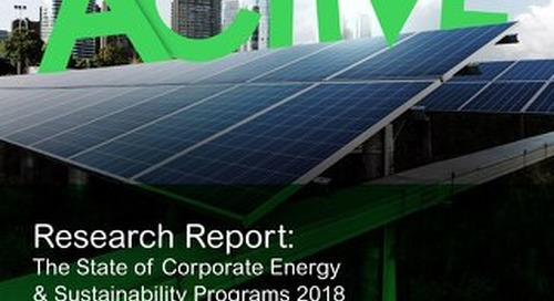 2018 State of Corporate Energy & Sustainability Programs