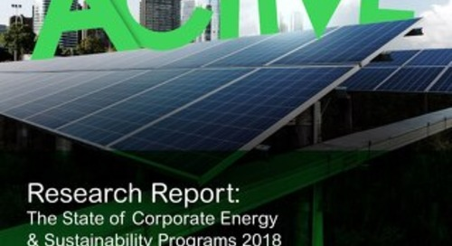 INSIGHTS: 2018 State of Corporate Energy & Sustainability Programs