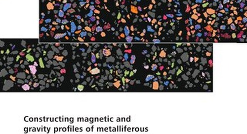 Constructing magnetic and gravity profiles of metalliferous ore using automated mineralogy