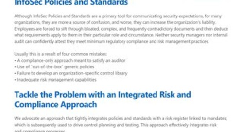 End the struggle with InfoSec Policies and Standards