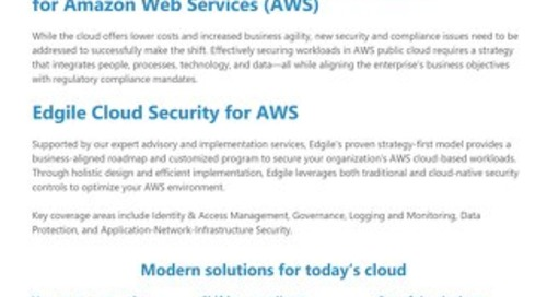AWS Cloud Security for enterprise-wide security and compliance