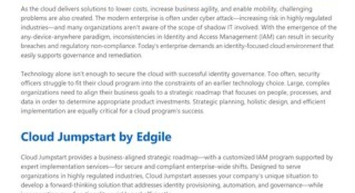 Cloud Jumpstart for enterprise-wide security and compliance