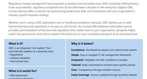 Edgile iGRC Content Service